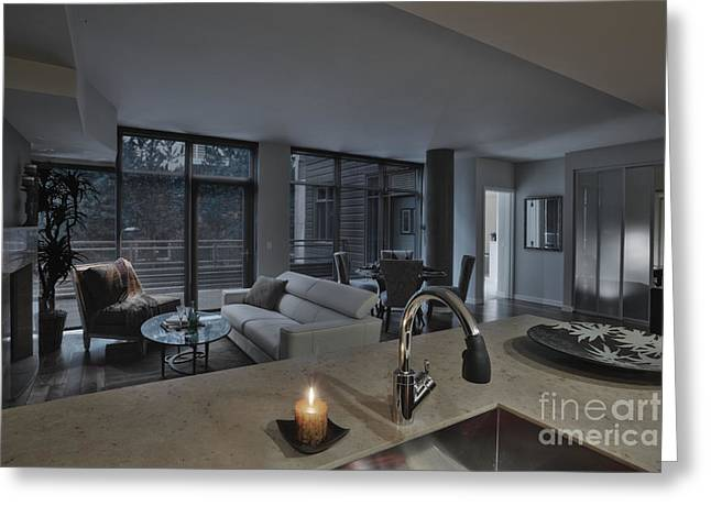 Modern Living Space Greeting Card