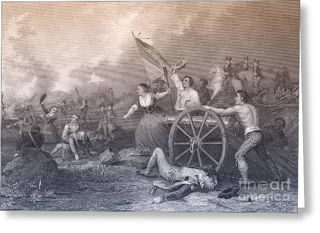 Molly Pitcher At The Battle Of Monmouth Greeting Card