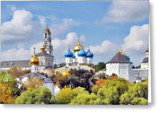 Monastery Panorama  Greeting Card by Aleksandr Volkov
