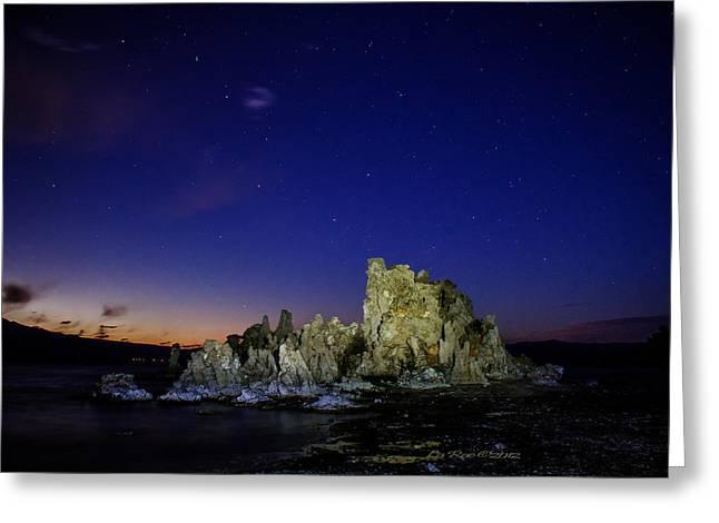 Mono Lake Big Dipper Sky Greeting Card by La Rae  Roberts
