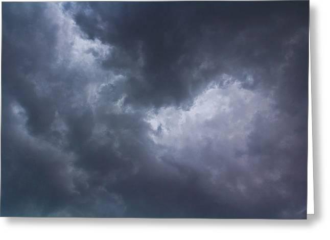 Monochrome Sky Greeting Card by David Pyatt