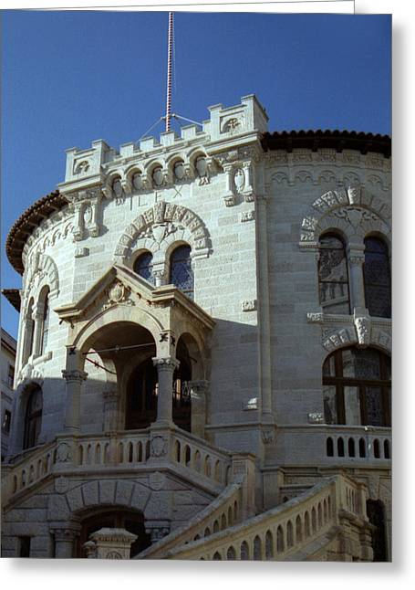 Greeting Card featuring the photograph Monte Carlo Courthouse by Steven Richman