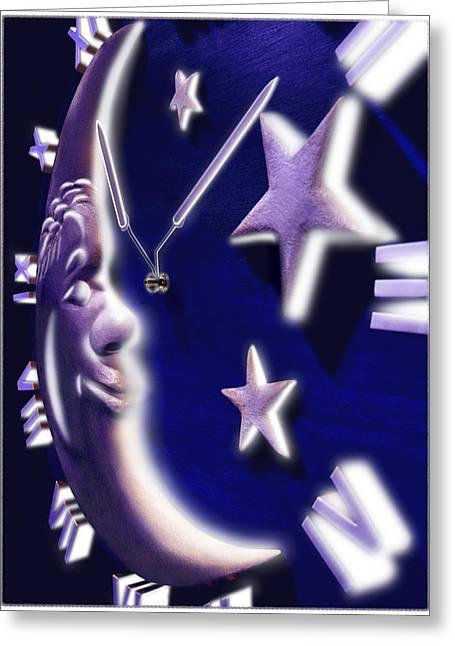 Moon Glow Greeting Card by Mike McGlothlen