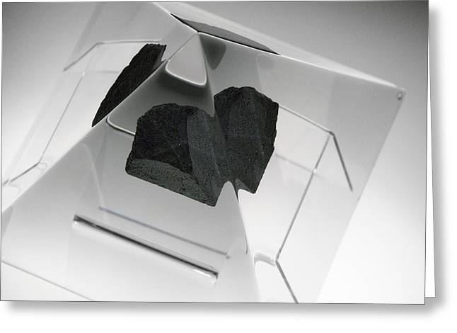 Moon Rock Sample Greeting Card by Detlev Van Ravenswaay