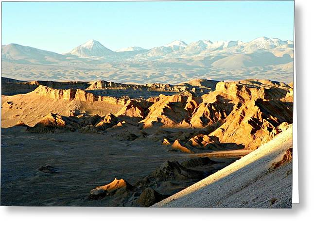 Moon Valley Atacama Desert  Greeting Card