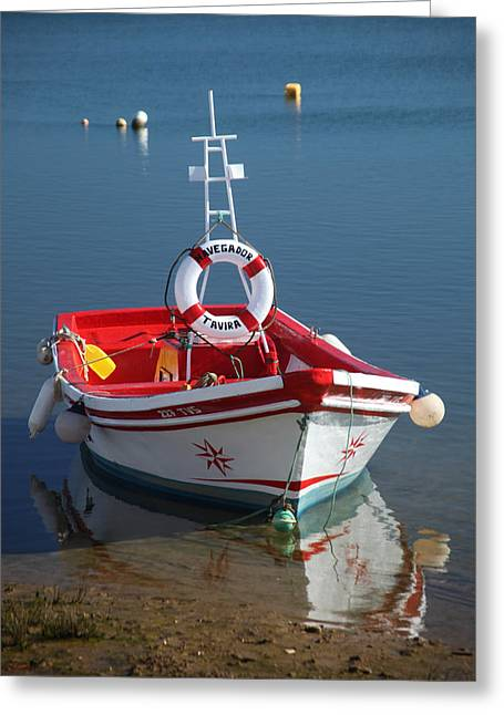 Moored Up Greeting Card by Jez C Self