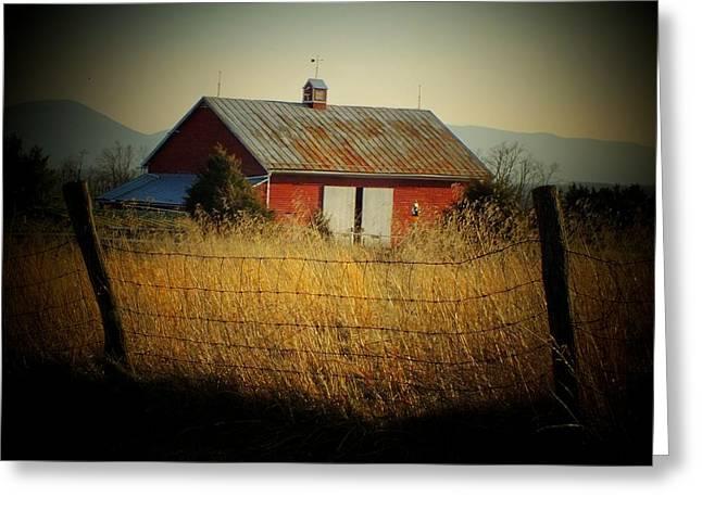 Morning Barn Greeting Card by Michael L Kimble