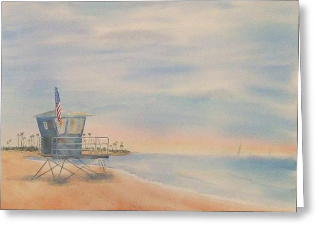 Morning By The Beach Greeting Card