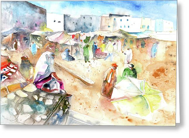 Moroccan Market 01 Greeting Card by Miki De Goodaboom