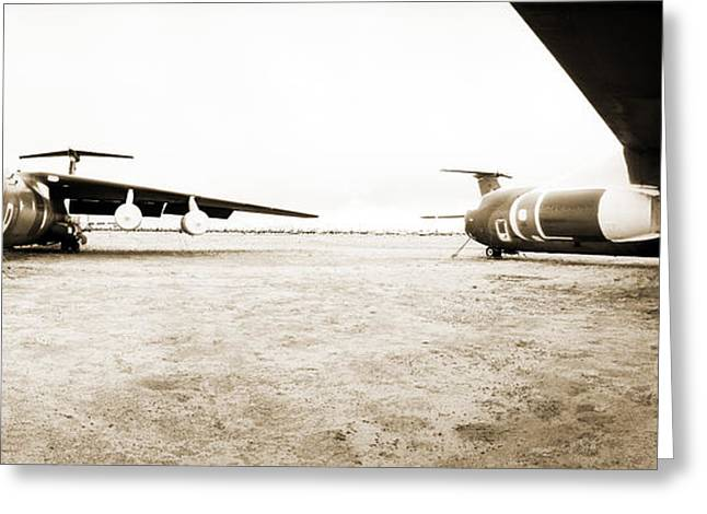 Mothballed C-141s Greeting Card by Jan W Faul