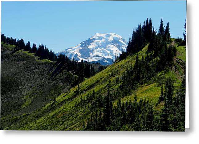 Mount Baker From The Skyline Divide Greeting Card