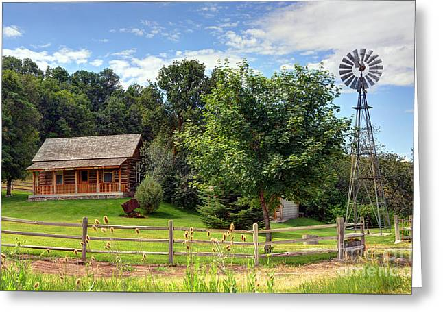 Mountain Cabin - Rural Idaho Greeting Card by Gary Whitton