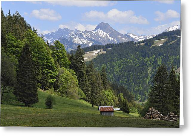 Mountain Landscape In The Alps Greeting Card by Matthias Hauser