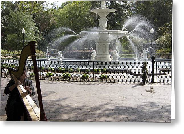 Musical Fountain Greeting Card