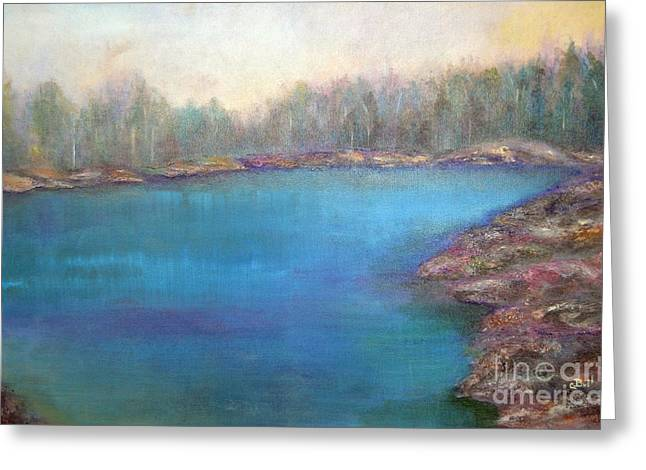 Muskoka Shore Greeting Card by Claire Bull