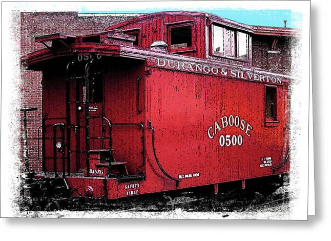 My Little Red Caboose Greeting Card by Gary Baird
