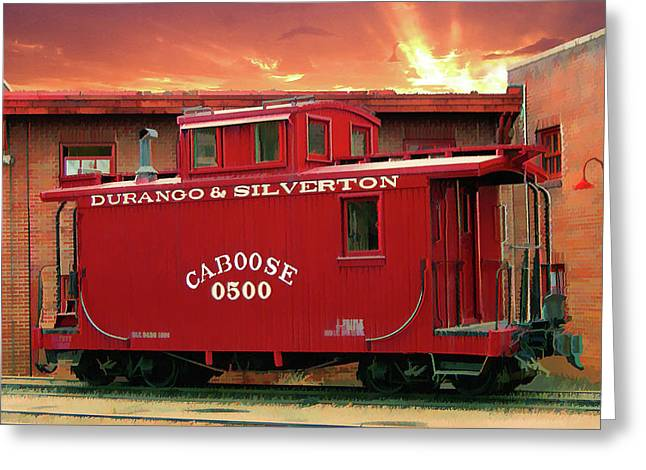 My Little Red Caboose Too Greeting Card by Gary Baird