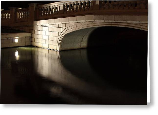 Greeting Card featuring the photograph Mystery Bridge by Scott Rackers