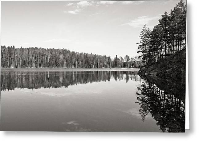 Nameless Lake Greeting Card by Konstantin Dikovsky
