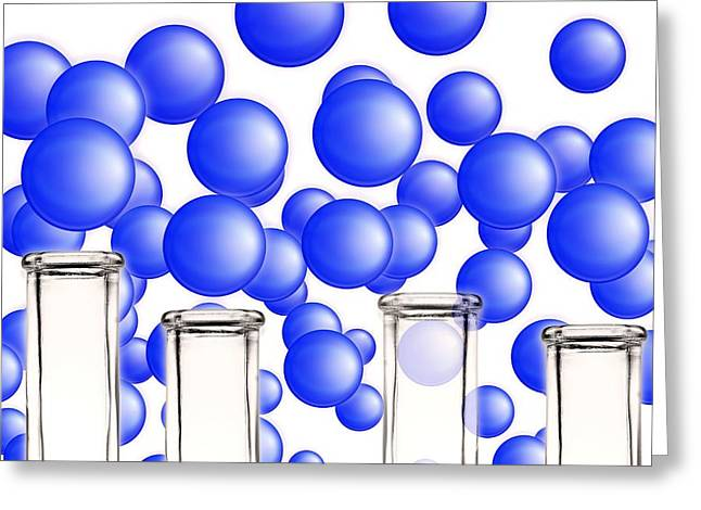 Nano-science, Conceptual Image Greeting Card by Gombert, Sigrid