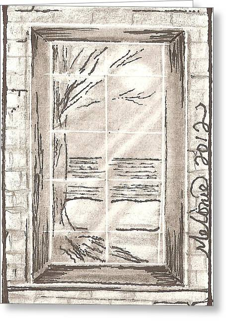 Narrow Viewpoint Greeting Card by Melonie King