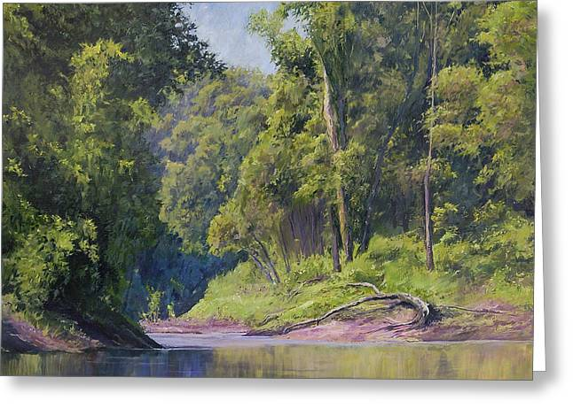 Near The River At Friars Point Greeting Card