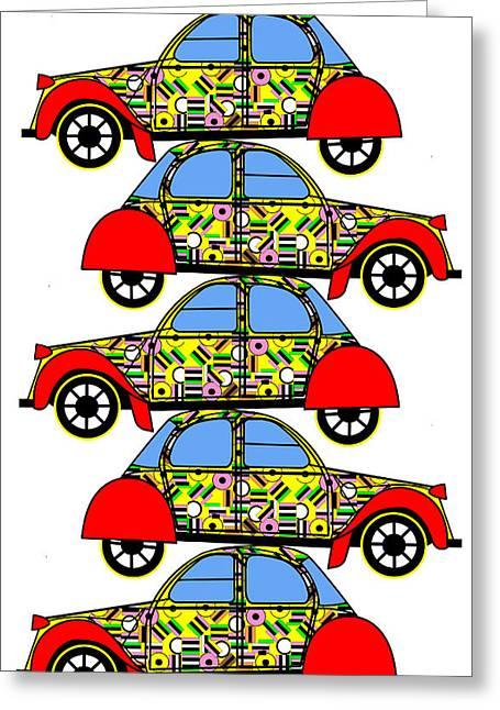 Nerds Car - Virtual Cars Greeting Card by Asbjorn Lonvig