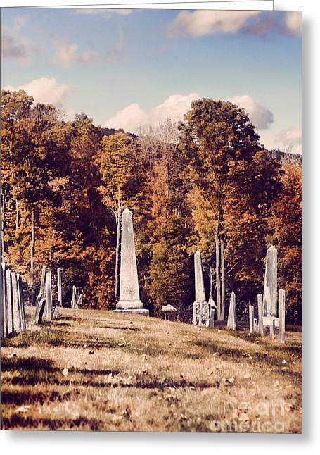 New England Cemetery Greeting Card by HD Connelly