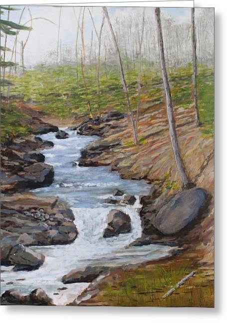 New Growth. Pretty River. Collingwood Greeting Card by Humphrey Carter