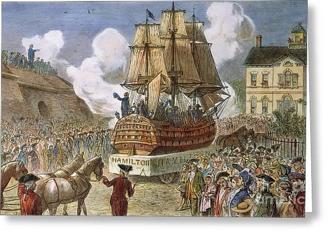 New York: Parade, 1788 Greeting Card by Granger