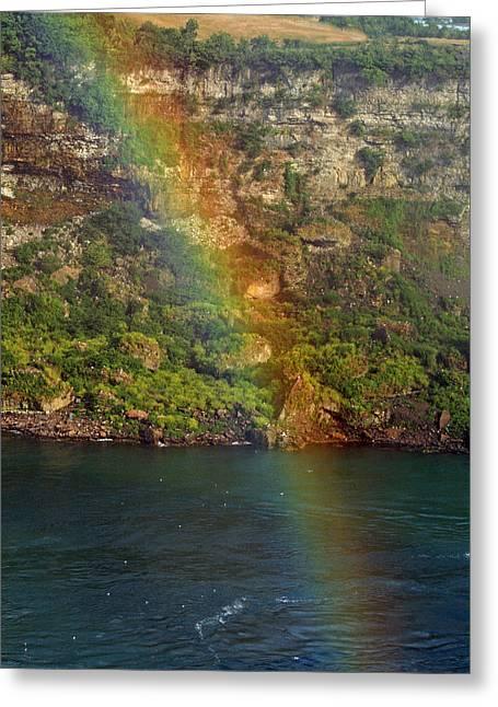 Niagara Falls Rainbow Greeting Card
