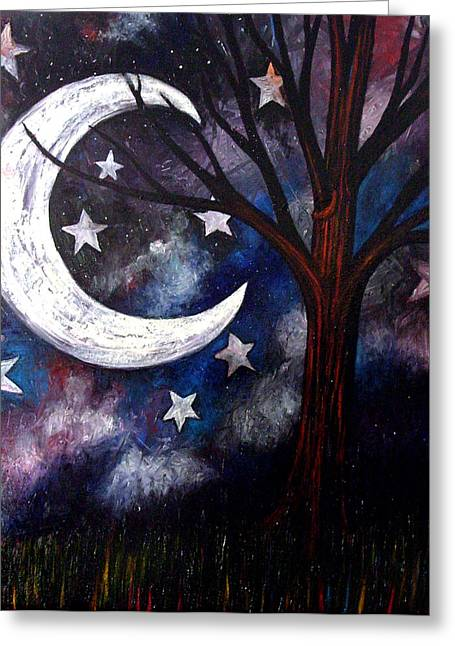 Night Gazing Greeting Card