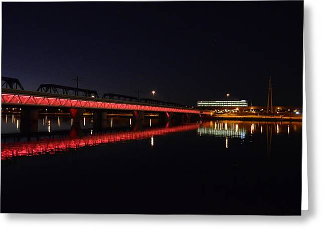 Night Lights Greeting Card by Alberto Sanchez