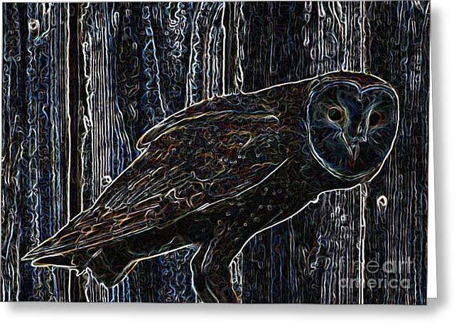 Night Owl - Digital Art Greeting Card by Carol Groenen