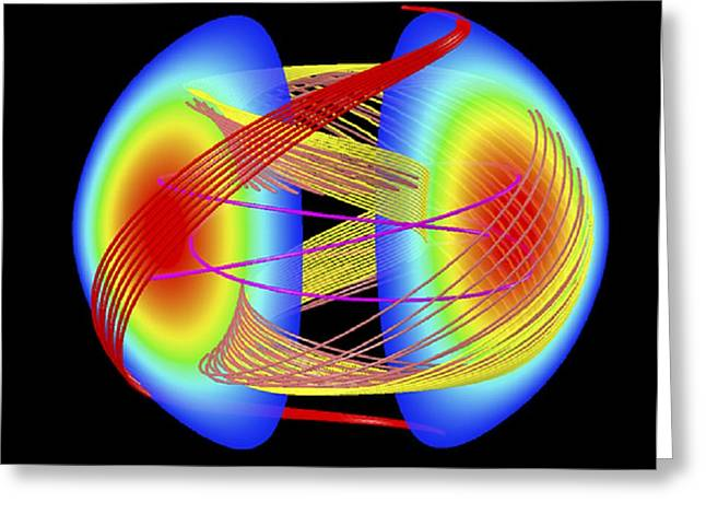 Nuclear Fusion Plasma Simulation Greeting Card by Lawrence Berkeley National Laboratory