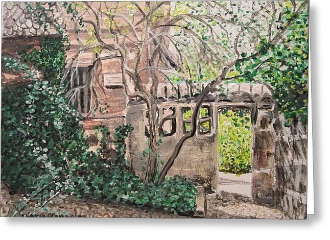 Nuremberg Castle Garden Greeting Card by Sharon  De Vore