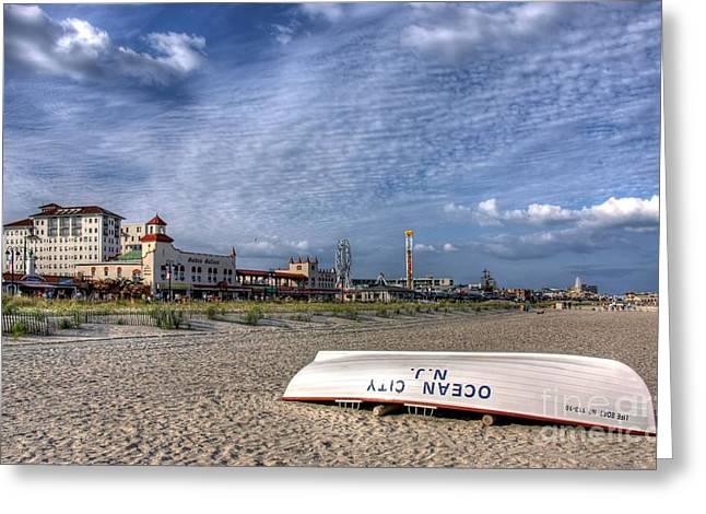 Ocean City Beach Greeting Card
