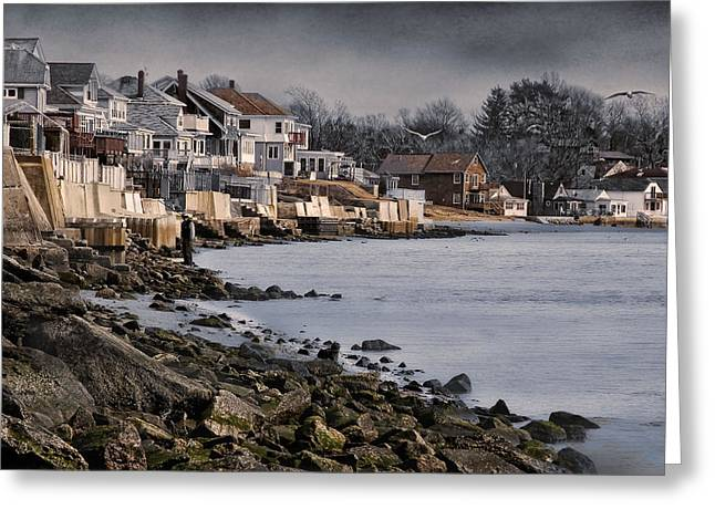 Ocean Grove Greeting Card by Robin-Lee Vieira