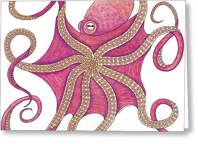 Octopus Greeting Card by Carol Lynne