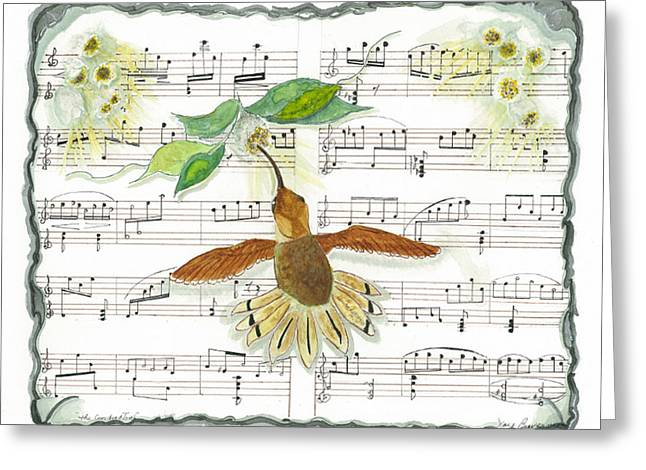 Greeting Card featuring the mixed media 1 Of 2 - Natures Symphony-the Conductor by Joy Braverman
