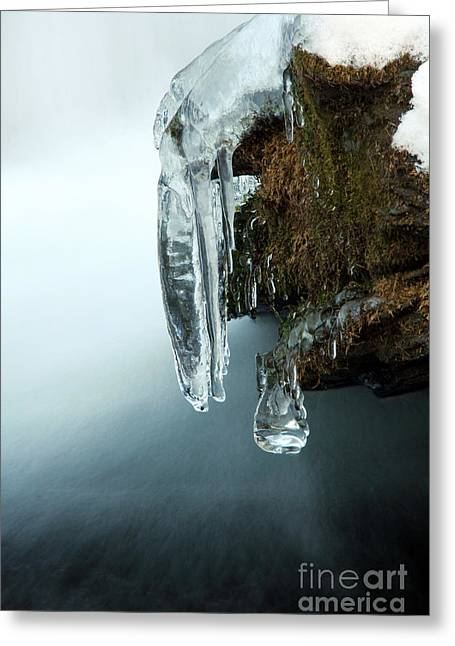 Of Ice And Water Greeting Card by Darren Fisher
