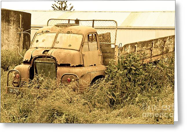 Old Abandoned Truck Greeting Card