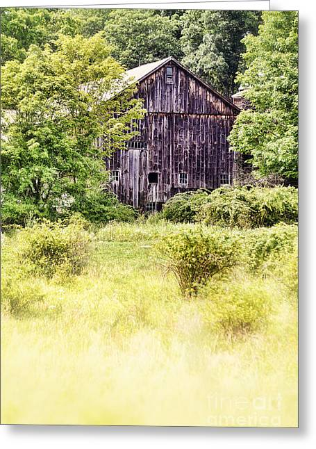 Old Barn Greeting Card by HD Connelly