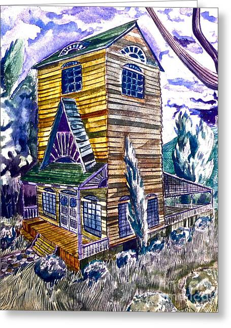 Old California House Greeting Card