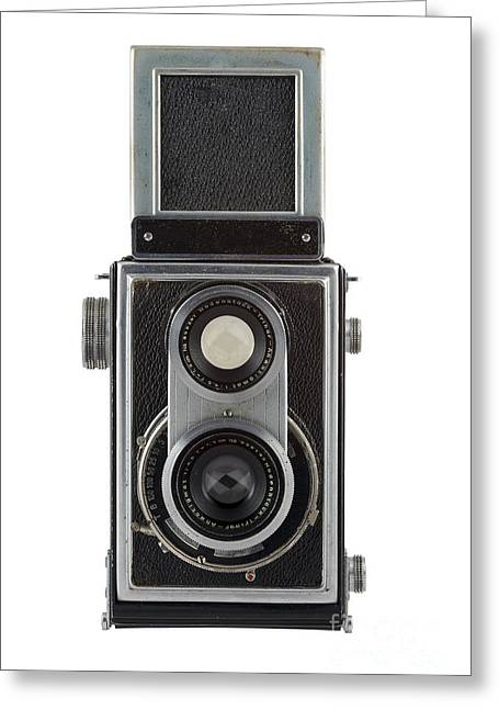 Old Camera Greeting Card by Michal Boubin