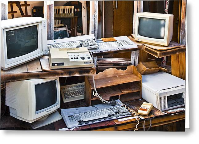 Old Computers In Storage Greeting Card