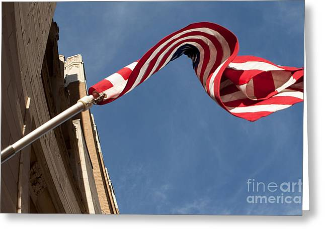 Greeting Card featuring the photograph Old Glory by Lawrence Burry