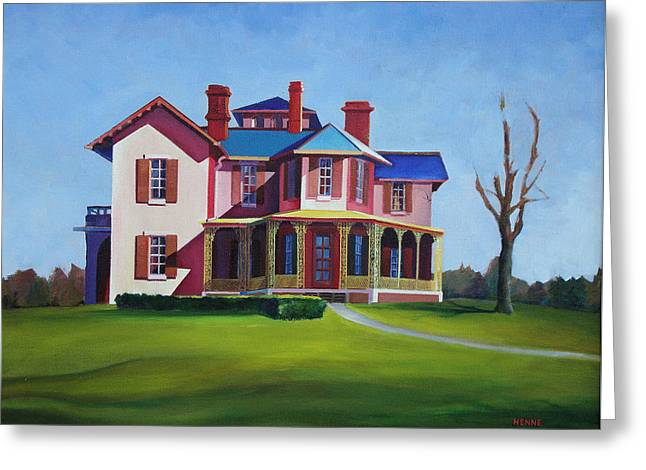 Greeting Card featuring the painting Old House by Robert Henne