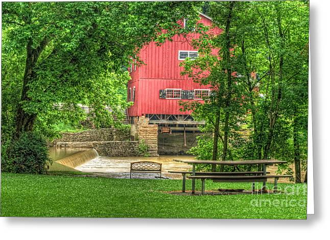 Old Indian Mill Greeting Card by Pamela Baker