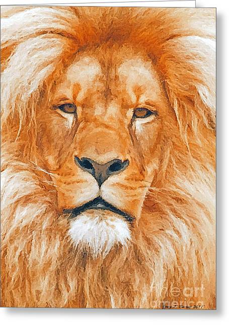 Old Lion Greeting Card